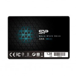 Silicon Power SSD Slim A55 128GB 2.5', SATA III 6GB/s, 560/530 MB/s, 3D NAND SP128GBSS3A55S25