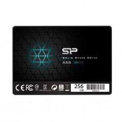 Silicon Power SSD Slim A55 256GB 2.5', SATA III 6GB/s, 560/530 MB/s, 3D NAND SP256GBSS3A55S25