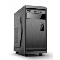 "Gembird ATX PC case, midi-tower, black, ""Fornax 100"" CCC-FC-01-BK"