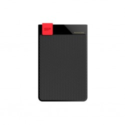External HDD Silicon Power Diamond D30 1TB USB 3.0, ultra-slim 7mm, IPX4, Black SP010TBPHDD3SS3K