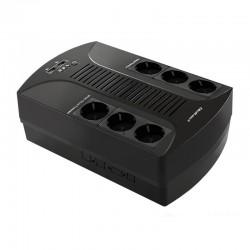 Surge protector QOLTEC | 6 power socket | 650VA | 390W 53965