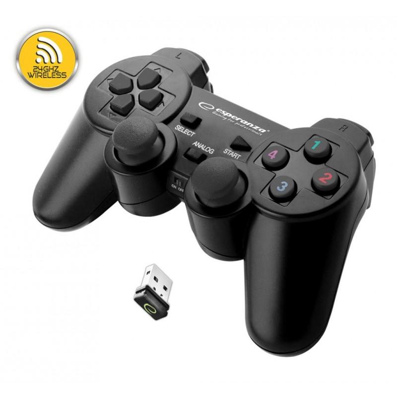 ESPERANZA EGG108K GAMEPAD S VIBRÁCIAMI Bezdrôtová PRE POČÍTAČE PC / PS3 EGG108K - 5901299947234