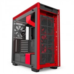 NZXT computer case H700i Matte Black/Red CA-H700W-BR