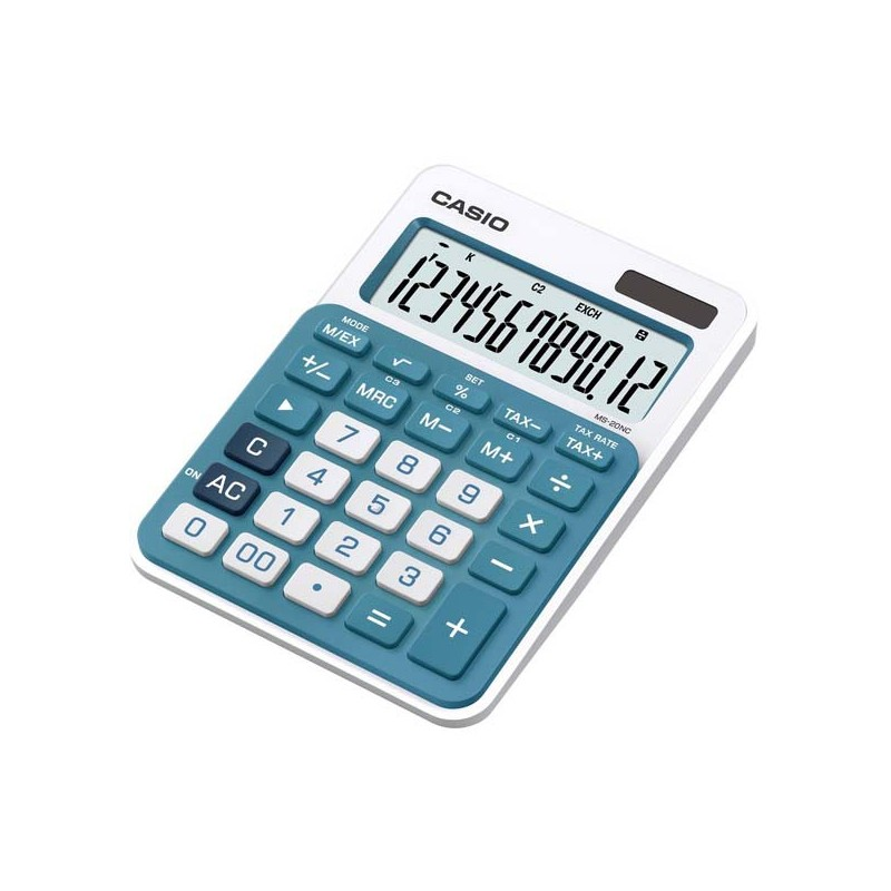 Kalkulačky, Databanky Kalkulačka Casio, MS 20 NC, modrá, stolná, dvanásťmiestna MS 20 NC BU