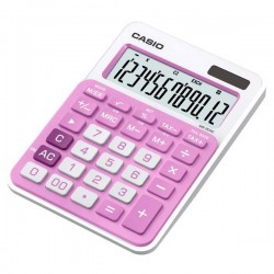 Kalkulačky, Databanky Kalkulačka Casio, MS 20 NC, ružové, stolná, dvanásťmiestna MS 20 NC PK