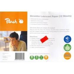 PEACH Olejový papír pro údržbu skartovaček Shredder Service Kit PS100-00
