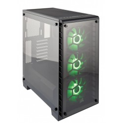 Corsair case Crystal Series 460X RGB Tempered Glass, Compact ATX Mid-Tower CC-9011101-WW