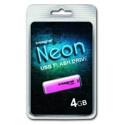 INTEGRAL Drive Neon 4GB USB 2.0 flashdisk, ružový INFD4GBNEONPK