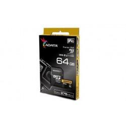 Adata microSDXC 64GB Class 10 read/write 275/155MBps AUSDX64GUII3CL10-CA1