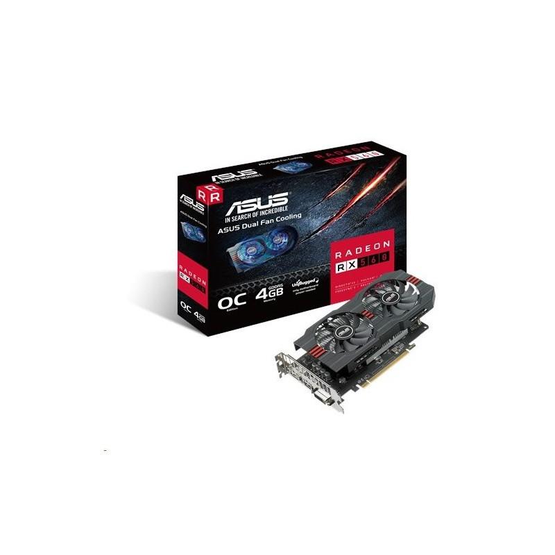 ASUS Radeon RX560-O4G-EVO 4GB/128-bit, GDDR5, DVI, HDMI, DP 90YV0AH8-M0NA00