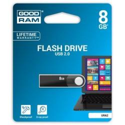 8 GB . USB kľúč . GOODDRIVE Rano Čierna URA2-0080K0R11