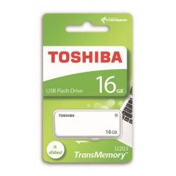 16 GB . USB kľúč . TOSHIBA - TransMemory biely THN-U203W0160E4