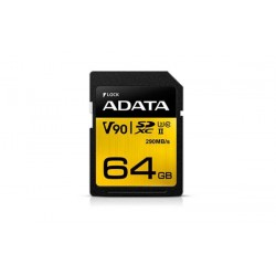 64 GB SDXC/SDHC Premier ONE UHS-II karta A-DATA class 10 Ultra High Speed ASDX64GUII3CL10-C