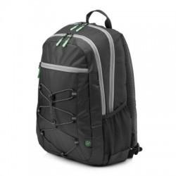 HP 15.6 Active Backpack (Black/Mint Green) 1LU22AA#ABB