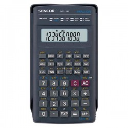 Kalkulačky, Databanky Kalkulačka Sencor, SEC 185, čierna, školská, desaťmiestna