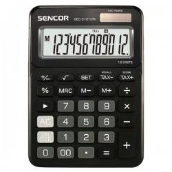 Kalkulačky, Databanky Kalkulačka Sencor, SEC 372T/BK, čierna, stolná, dvanásťmiestna