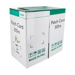 """4World Kábel Patch FTP, 4x2, """"kat.5e"""", drát CCA (Cu+Al), 305m, farba šedá 04980"""