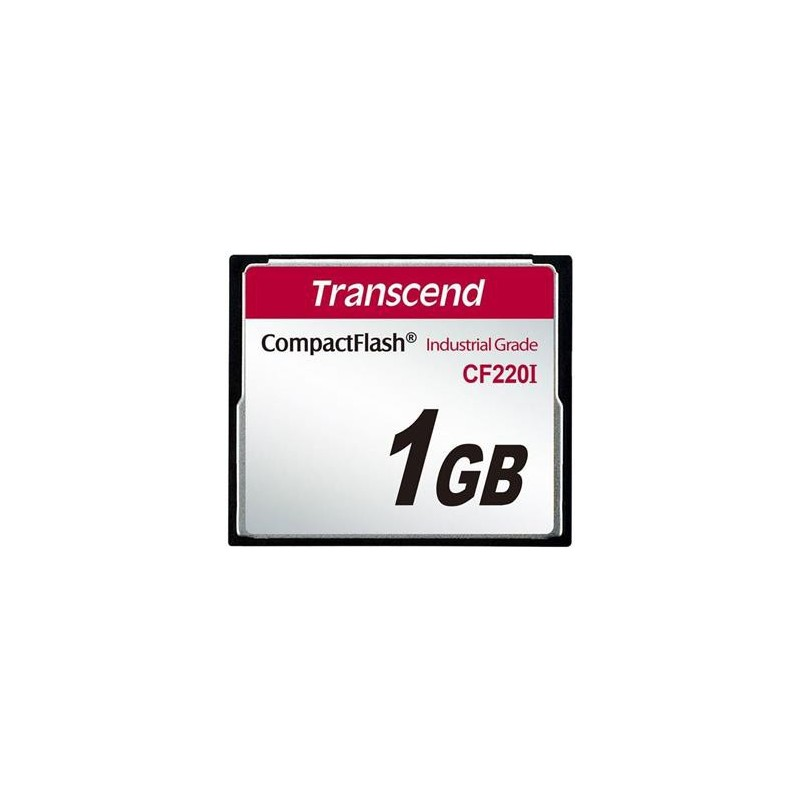 Transcend 1GB INDUSTRIAL TEMP CF220I CF CARD (Fixed disk and UDMA5) TS1GCF220I