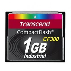 Transcend 1GB INDUSTRIAL CF300 CF CARD, high speed 300X paměťová karta (SLC) TS1GCF300