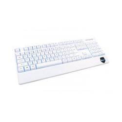 C-TECH klávesnice KB-104W, USB, 3 barvy podsvícení, bílá, CZ/SK
