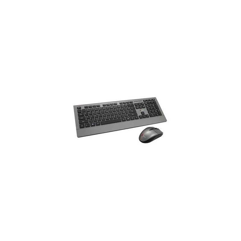 C-TECH klávesnice WLKMC-12, bezdrátový combo set s myší, USB, CZ/SK