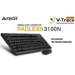 A4tech 3100N set bezdr. kláv. + bezdr. V-Track optická myš,CZ/US, USB