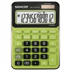 Kalkulačky, Databanky Kalkulačka Sencor, SEC 372T/GN, zelená, stolná, dvanásťmiestna