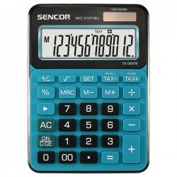 Kalkulačky, Databanky Kalkulačka Sencor, SEC 372T/BU, modrá, stolná, dvanásťmiestna