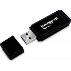 Integral USB 64GB Black, USB 3.0 with removable cap INFD64GBBLK3.0