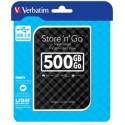 "Verbatim Store n Go GEN 2, 500GB, externý HDD 2.5"" USB 3.0, čierny 53193"