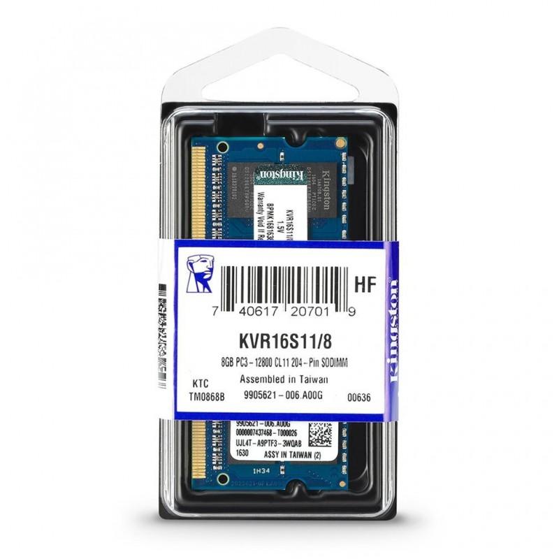 SO DIMM KINGSTON DDR3 8GB 1600Mhz KVR16S11 KVR16S11/8