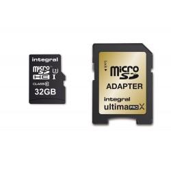 Integral UltimaProX Gold microSDHC/XC 32GB Read/Write (95/90MB/s) INMSDH32G10-95/60U1