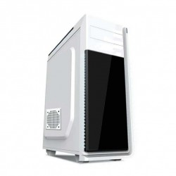 Grmbird ATX gaming PC case, midi-tower, white, 'Neptun' CCC-GJ-12-W