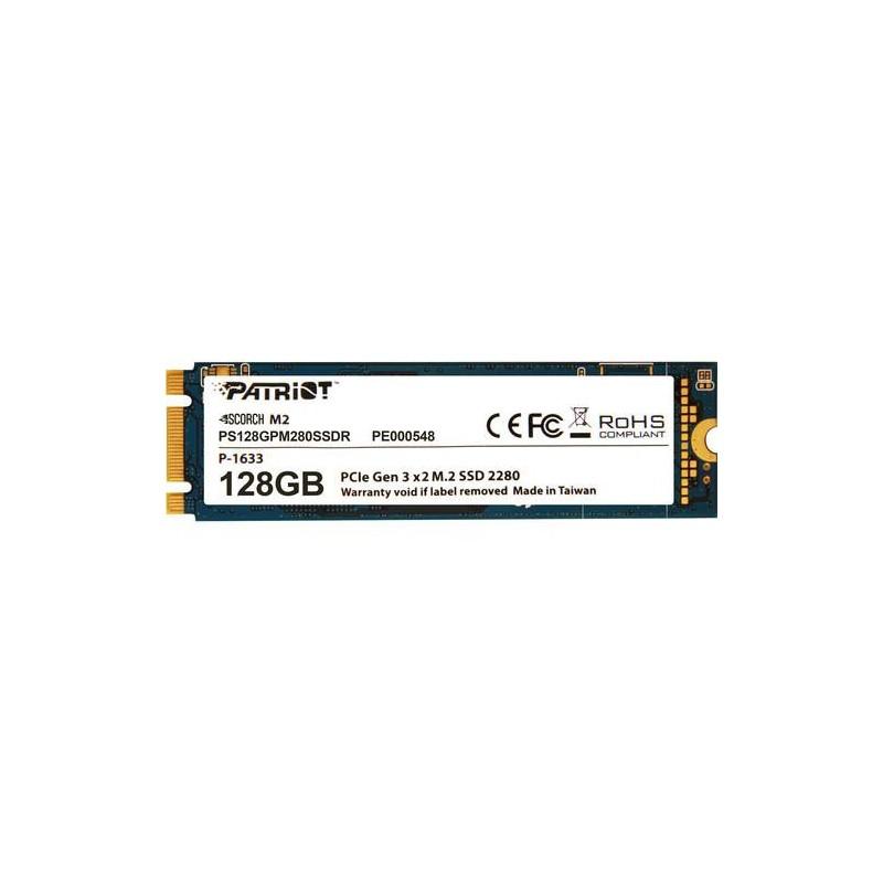 Patriot SSD Scorch M.2 PCIe 128GB Read/Write (1700/415Mb/s) PS128GPM280SSDR