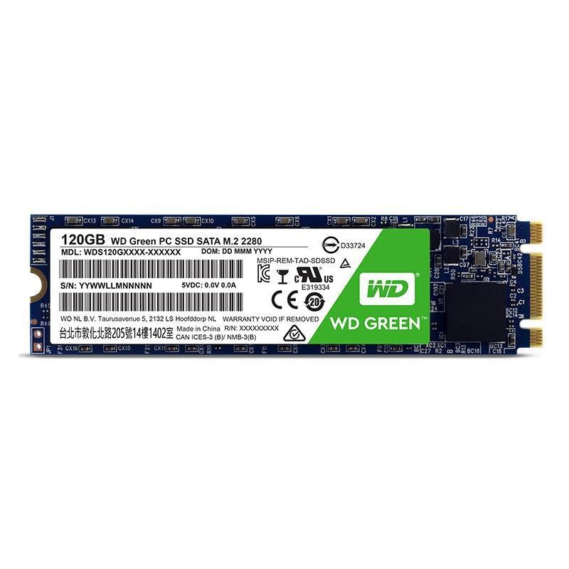 SSD 120GB M.2 Western Digital Green SATA3 R/W:540/430 MB/s 3D NAND WDS120G2G0B