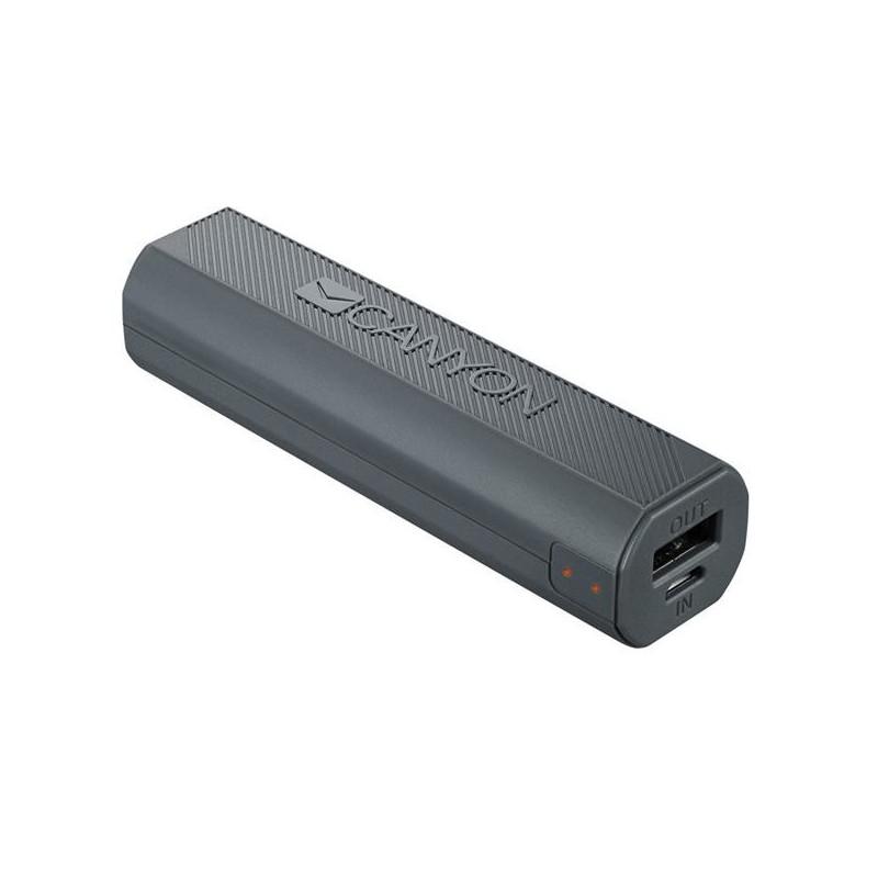 Canyon CNE-CPBF26DG Powerbank 2600mAh, Li-Ion, single USB 5V/1A, pre smartfóny, šedá