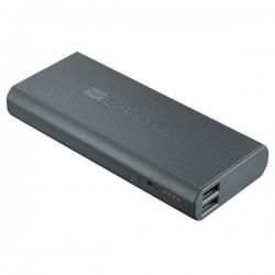 Canyon CNE-CPBF130DG externá batéria s nabíjačkou 13.000 mAh, dual USB 5V/2A, pre smartfóny a tablety, tmavo šedá