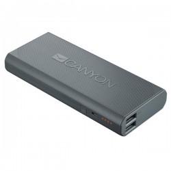 Canyon CNE-CPBF100DG Powerbank 10.000 mAh, výstup 2 x USB 5V/max 2,4A, pre smartfóny a tablety, tmavo šedá