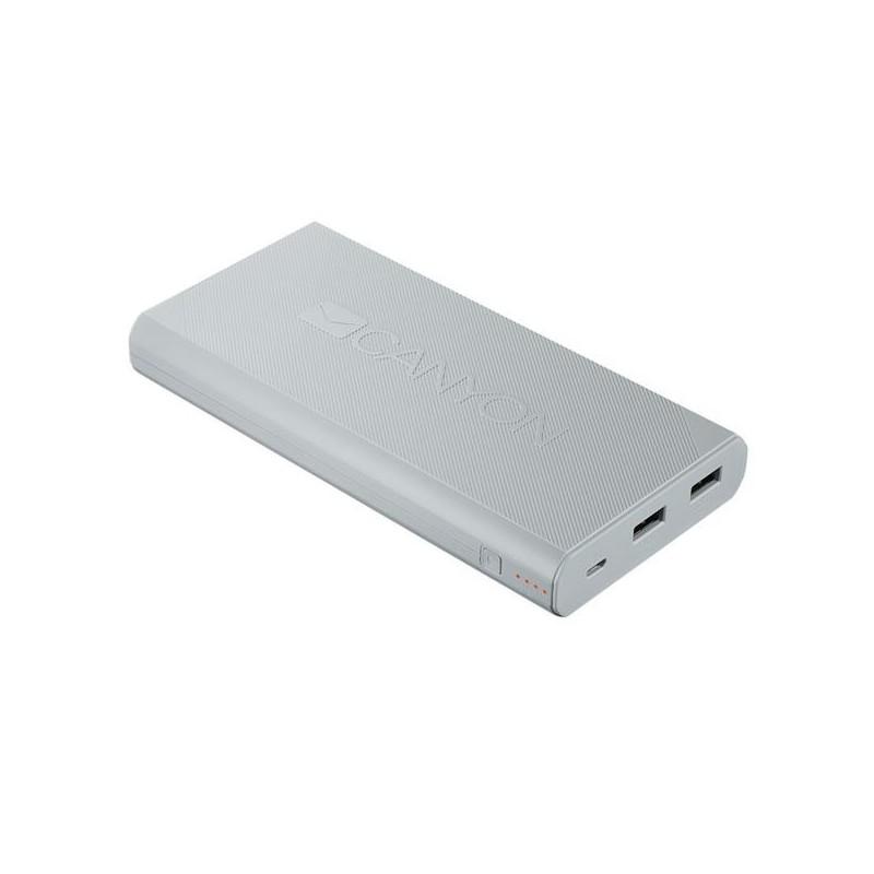 CanyonCNE-CPBF160W Powerbank 16.000 mAh, výstup 2 x USB 5V/max 2,4A, pre smartfóny a tablety, biela