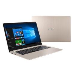 """ASUS VivoBook S510UN-BQ132T Intel i7-8550U 15.6"""" FHD matny MX150-2GB 16GB 1TB+128GB SSD WL Cam FPR Win10 CS zlatý"""