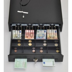 Peňažná zásuvka MK-410 4B/8M čierna