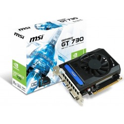 MSI GeForce GT 730, 2048MB DDR3, DVI-D, HDMI, D-Sub N730K-2GD3/OCV1