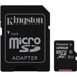 KINGSTON Micro SDXC 128GB UHS-I + adaptér SDCS/128GB