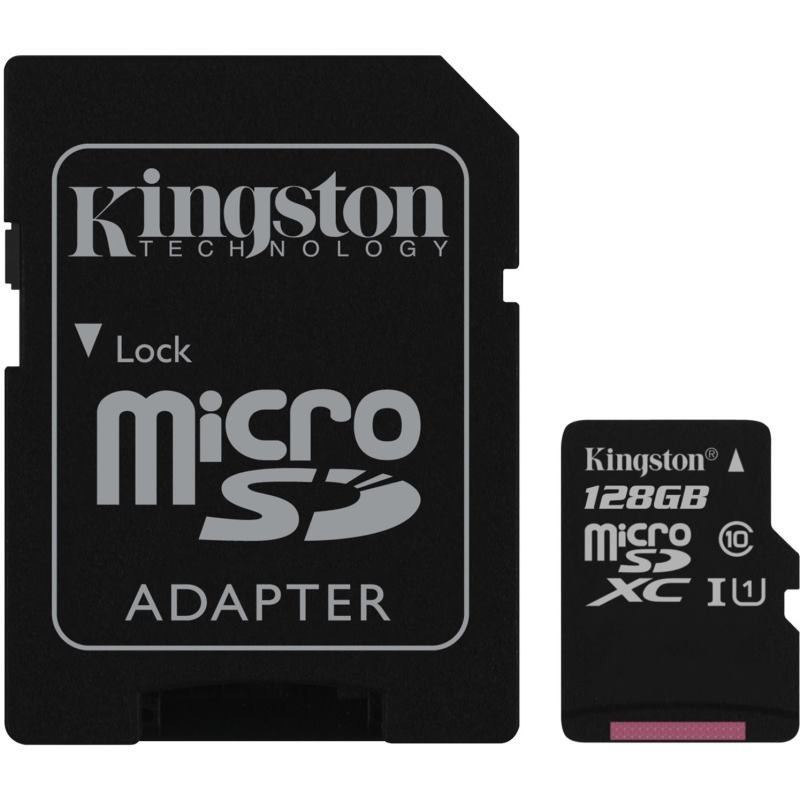 KINGSTON Micro SDXC 128GB UHS-I + adaptér SDCS/128GB