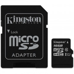 KINGSTON Micro SDHC 16GB UHS-I + adaptér SDCS/16GB