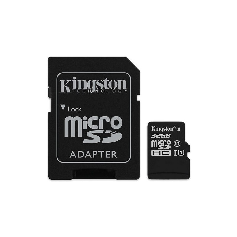 KINGSTON Micro SDHC 32GB UHS-I + adaptér SDCS/32GB