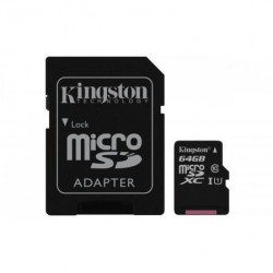 KINGSTON Micro SDXC 64GB UHS-I + adaptér SDCS/64GB