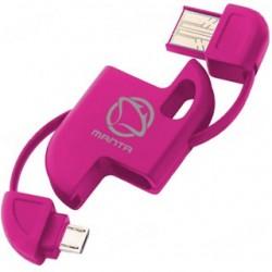 MANTA Kábel USB2.0/MicroUSB MA204 ružový MA204R
