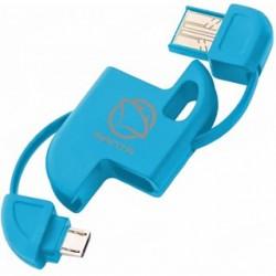 MANTA Kábel USB2.0/MicroUSB MA204 modrý MA204M