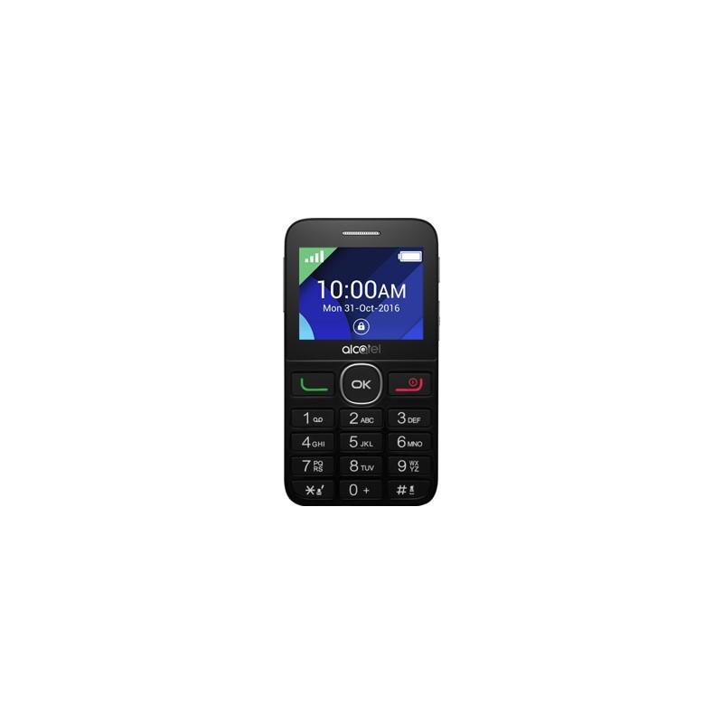 ALCATEL Telefón pre seniorov Black/Metal Silver 2008G-3BALCZ1